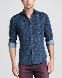 Etro Paisley Denim Shirt