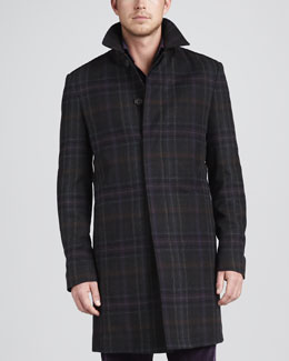 Etro Plaid Overcoat