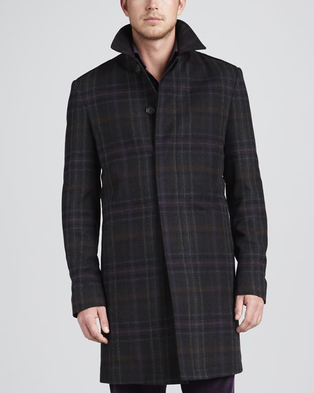 Plaid Overcoat