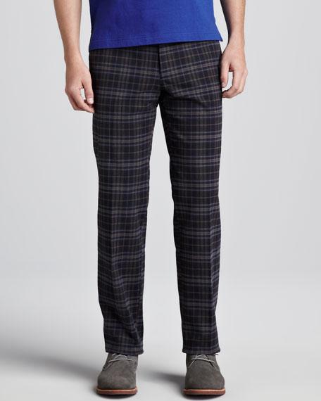 Plaid Pants, Blue/Gray