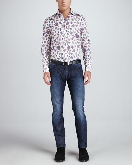 Paisley-Print Jeans