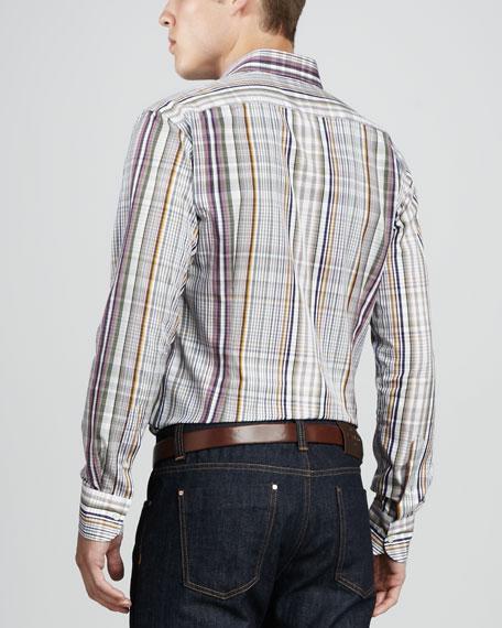 Multi-Plaid Sport Shirt