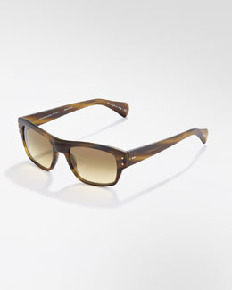 Oliver Peoples Evason Photochromic Sunglasses, Moss Tort