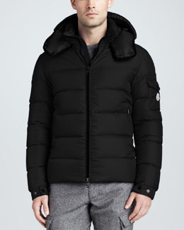 Moncler Himalaya Quilted Down Jacket, Black