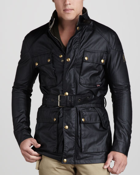 Roadmaster Belted Jacket, Black