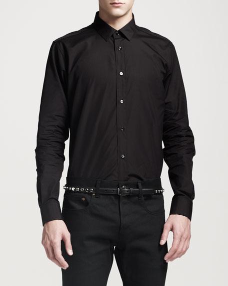 Poplin Dress Shirt, Black
