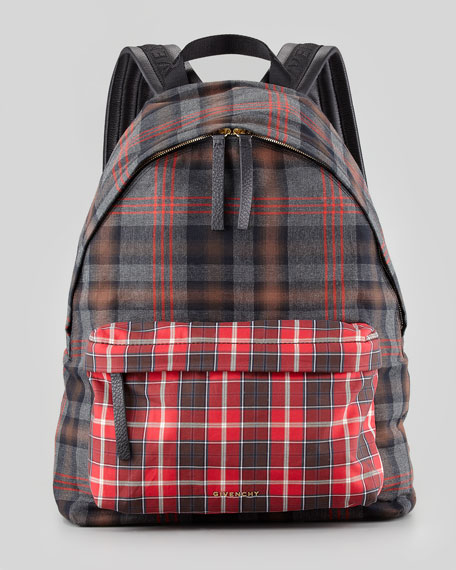 22b578e9d545 Givenchy Men s Plaid Backpack