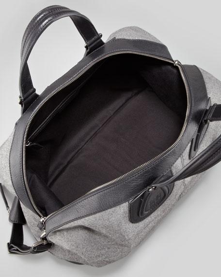Nightingale Men's Flannel Satchel Bag, Gray