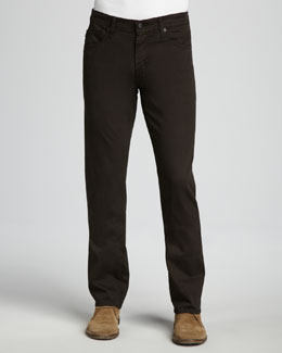 AG Adriano Goldschmied Protege Sueded Coffee Jeans