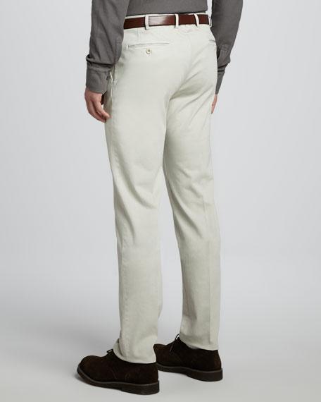 Pantaflat Slim-Fit 4-Pocket Sport Pants, Beige