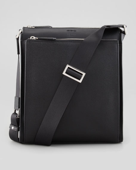 3814a1e252c Fendi Elite Men's Small Messenger Bag, Black