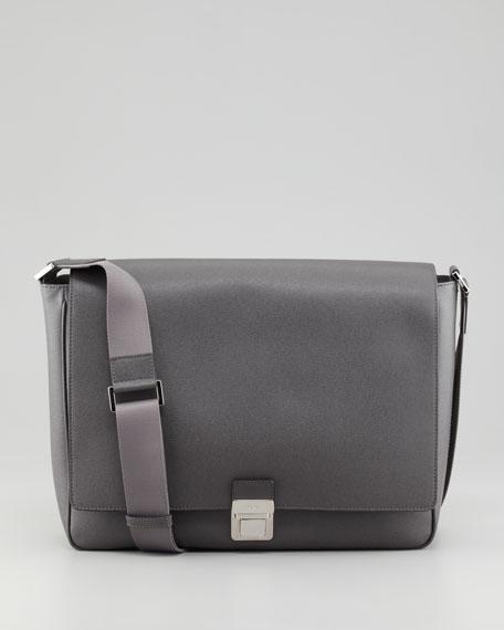 b3d4d3a7d17e Fendi Saffiano Leather Messenger Bag