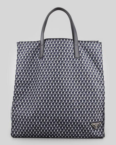 e589800861 Prada Geometric-Print Tote Bag