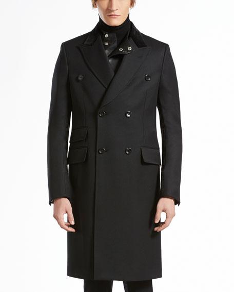 Wool Equestrian Coat, Black