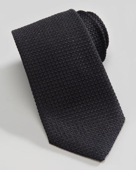Tonal Woven Tie, Black