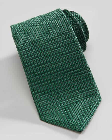 Tonal Woven Tie, Green