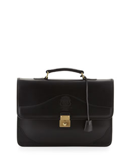 Envoy Leather Briefcase, Black
