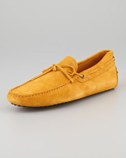 Tod's Suede Tie Driver, Sunflower Yellow
