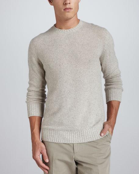 Cashmere Crewneck Sweater, Gray
