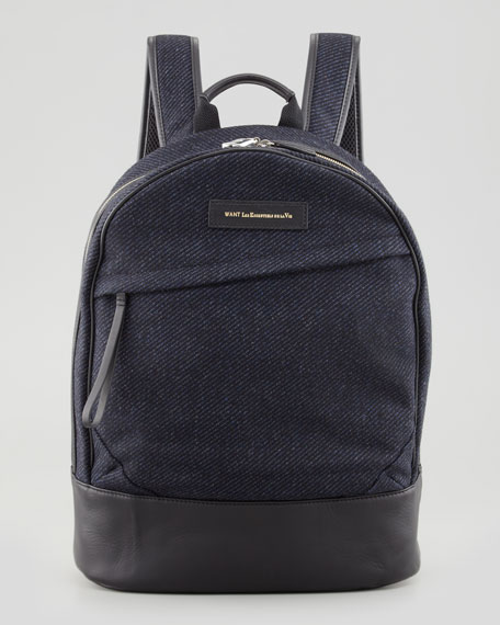 Castrup Tweed Backpack, Navy/Black