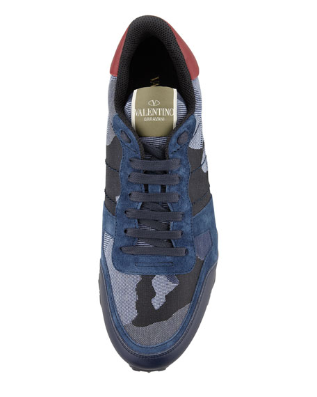 camouflage print sneakers - Blue Valentino 70v0VGRdH