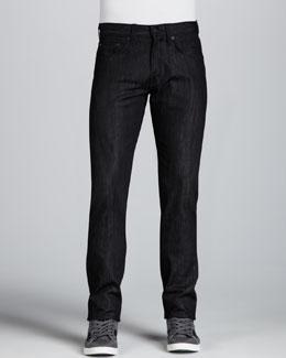 J Brand Jeans Tyler Black Raw Jeans