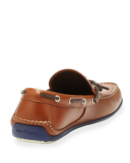 Salvatore Ferragamo Leather Boat Shoe
