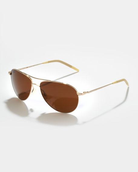 Benedict Basic Polarized Aviator Sunglasses, Java