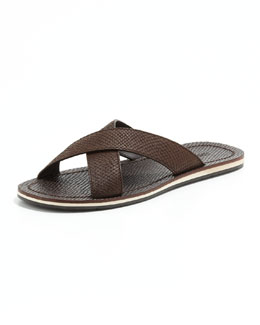 Jimmy Choo Matthew Viper-Print Sandal, Brown