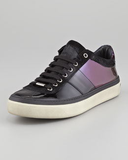 Jimmy Choo Ombre Patent Leather Sneaker, Purple Mix