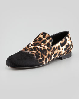 Jimmy Choo Ombre Leopard-Print Calf Hair Slipper