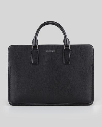 Heroic Slim Zip Briefcase, Black