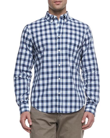 Faded Check Long-Sleeve Shirt
