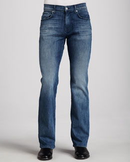 7 For All Mankind Brett Nakkitta Blue Jeans