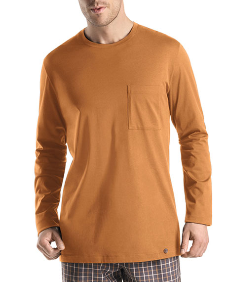 Edward Long-Sleeve Tee, Saffron