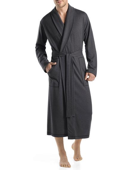 Humphrey Shawl-Collar Robe, Black Steel