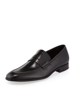 Rocco Leather Penny Loafer, Black