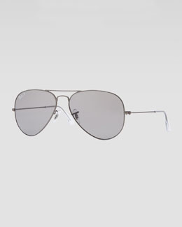 Ray-Ban Original Aviator Sunglasses, Gunmetal/Gray