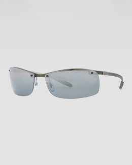 Ray-Ban Rectangular Tech Sunglasses, Light Carbon