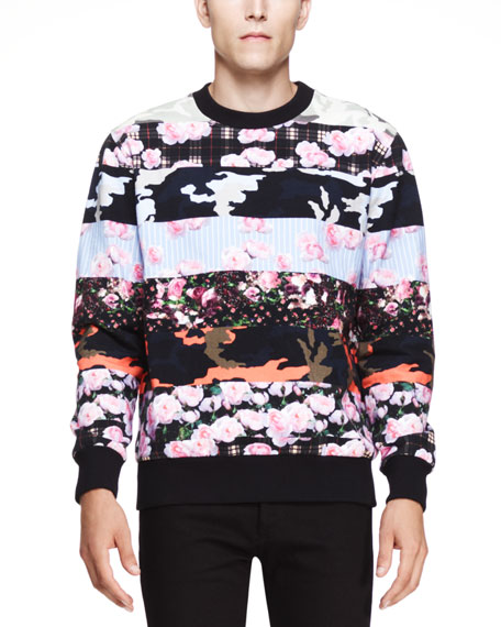 Multi-Print Cuban Sweatshirt