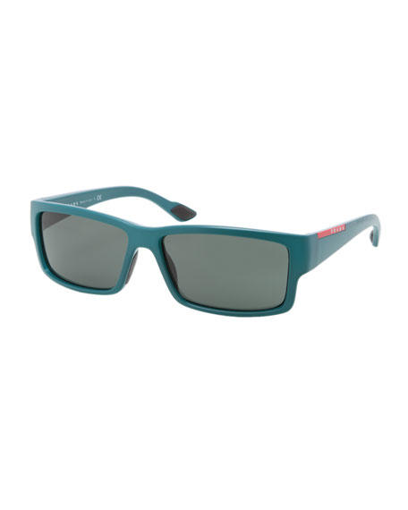 Rectangular Acetate Sunglasses, Green