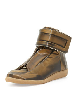 Maison Martin Margiela Future High-Top Sneaker, Gold
