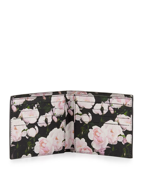 Roses Printed Leather Bi-Fold Wallet