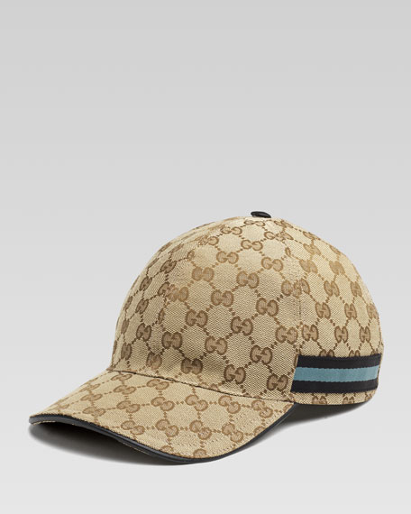2913066ad GG Canvas Baseball Hat Black/Teal