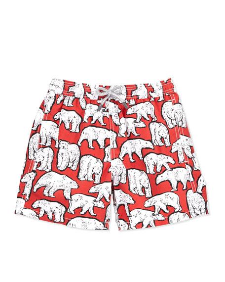 36a8761c2e Vilebrequin Polar Bear Boys' Jam Swim Trunks, Sizes 2-6