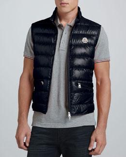 Moncler Gui Lightweight Puffer Vest, Navy