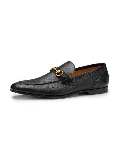 Elanor Leather Horsebit Loafer, Black