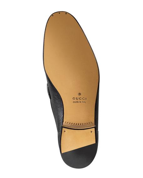 Elanor Leather Horsebit Loafer, Black