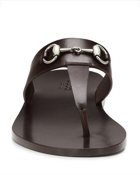 52c3a483c9c0 Gucci Leather Horsebit Thong Sandal