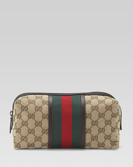 GG Canvas Toiletry Bag  Beige. Gucci GG Canvas Toiletry Bag  Beige